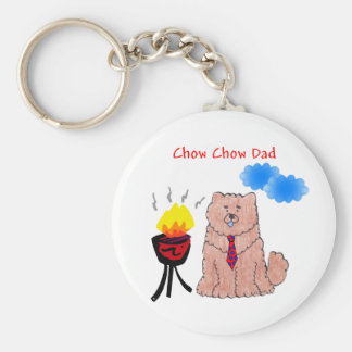 Chow Chow Red Dad Keychain