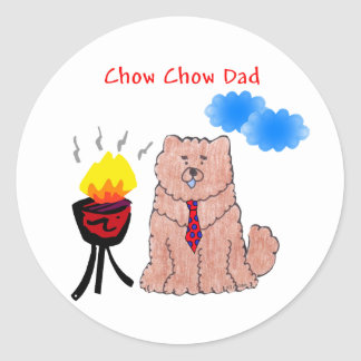 Chow Chow Red Dad Sticker