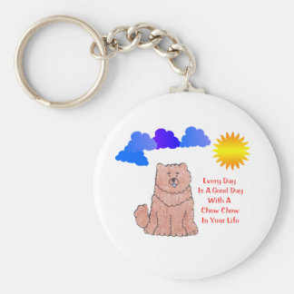 Chow Chow Red Every Day Is A Good Day Keychain
