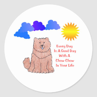 Chow Chow Red Every Day Is A Good Day Sticker