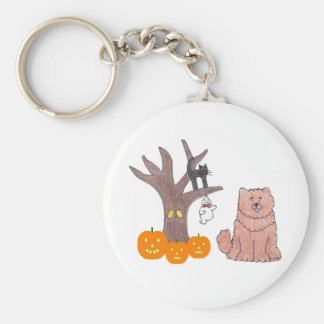 Chow Chow Red Fall Keychain