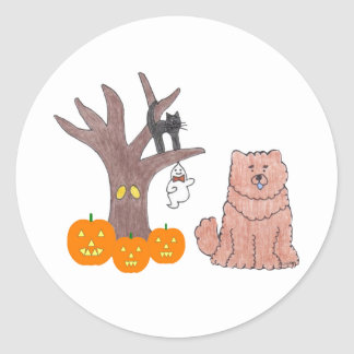 Chow Chow Red Fall Sticker