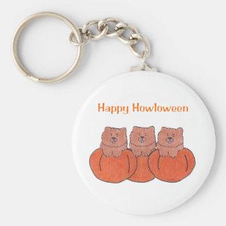 Chow Chow Red Happy Howloween Keychain