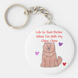 Chow Chow Red Life Is Just Better Keychain