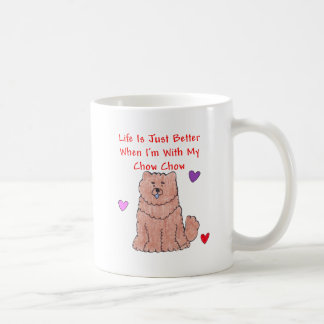 Chow Chow Red Life Is Just Better Mug