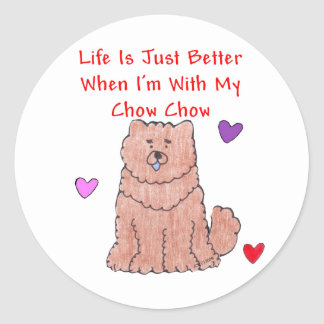Chow Chow Red Life Is Just Better Sticker