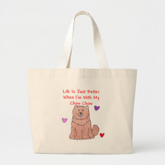 Chow Chow Red Life Is Just Better Tote Bag