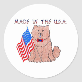 Chow Chow Red Made In The USA Sticker