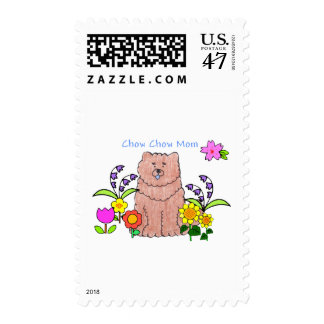 Chow Chow Red Mom Postage