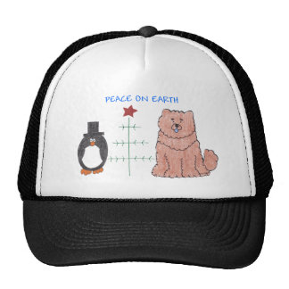 Chow Chow Red Peace On Earth Trucker Hat