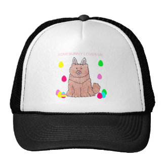 Chow Chow Red Somebunny Loves Me Trucker Hat