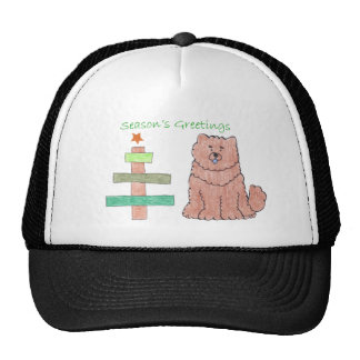 Chow Chow Red Stick Tree Trucker Hat
