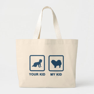 Chow Chow Rough-Coat Large Tote Bag