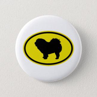 Chow Chow Rough-Coat Pinback Button