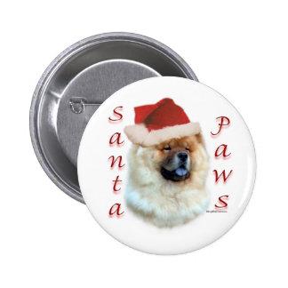 Chow Chow Santa Paws - Button
