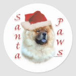 Chow Chow Santa Paws - Sticker