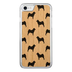 Carved Apple iPhone 7 Wood Case with Chow Chow Phone Cases design
