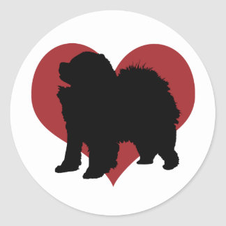 Chow Chow Round Stickers