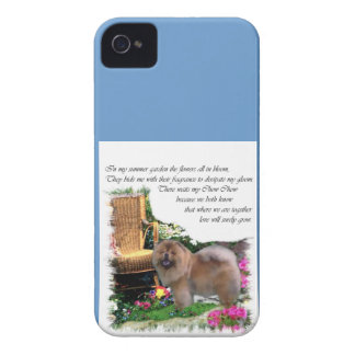 Chow Chow Summer Garden iPhone 4 Cover