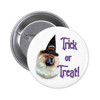 Chow Chow Trick Pinback Buttons
