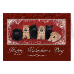 Chow chow valentine card