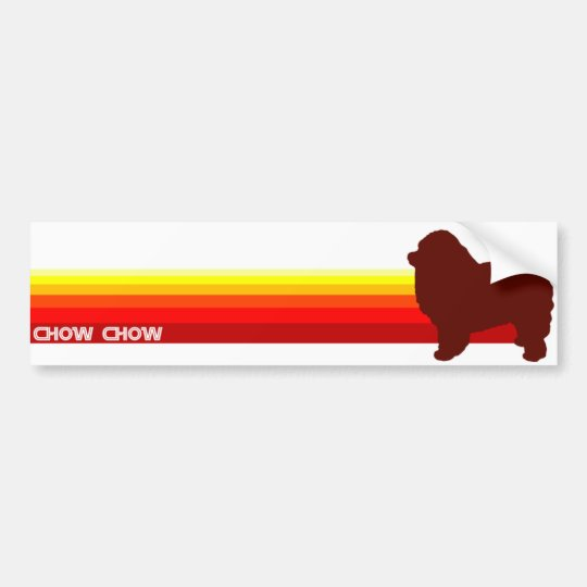 Chow Chow With Stripes Bumper Sticker