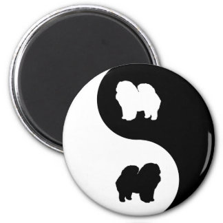 Chow Chow Yin Yang 2 Inch Round Magnet