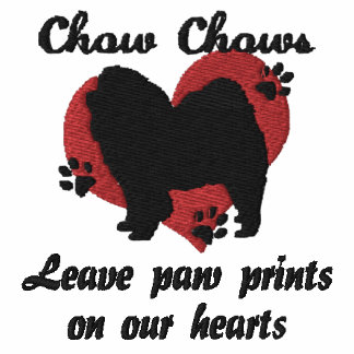 Chow Chows Leave Paw Prints Embroidered Shirt