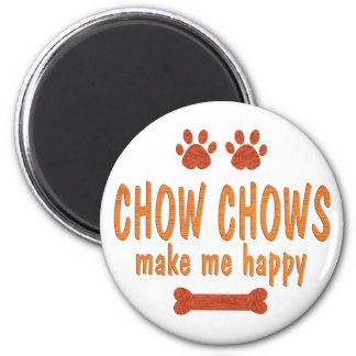 Chow Chows Make Me Happy 2 Inch Round Magnet