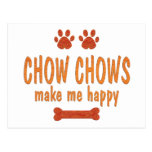 Chow Chows Make Me Happy Post Cards
