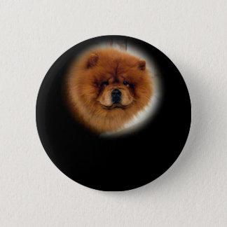 Chow Dog Design Button