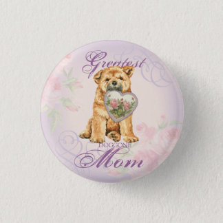 Chow Heart Mom Pinback Button