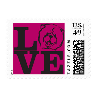 Chow Love postage stamp
