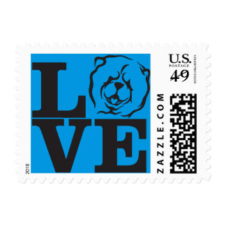 Chow Love postage stamps