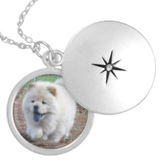 Chow Puppy Locket Necklace