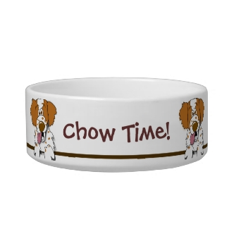 Chow Time Cute Brittany Spaniel Dog Pet Bowl