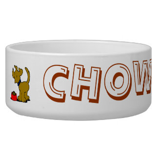 Chow Time Dog Bowl