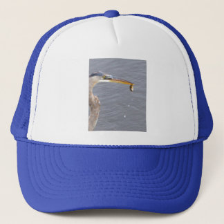 Chow Time For Great Blue Heron Trucker Hat