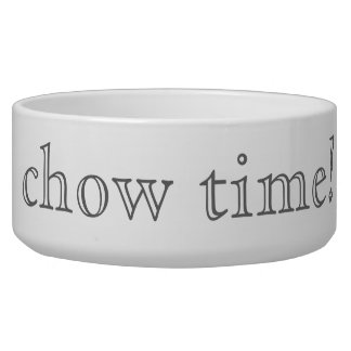 chow time! pet water bowl