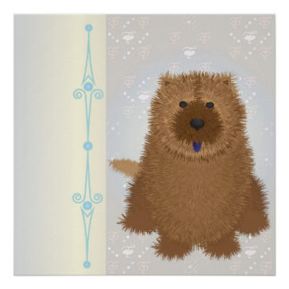 ChowChow on Blue Poster