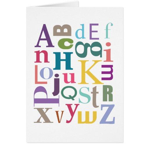 Chowder del alfabeto felicitación