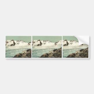 Choza de Concordia, Valais, montañas de, vintag de Pegatina De Parachoque