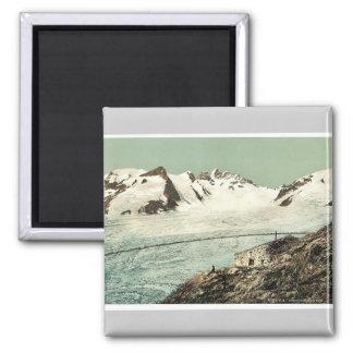 Choza de Concordia, Valais, montañas de, vintag de Imán Para Frigorifico