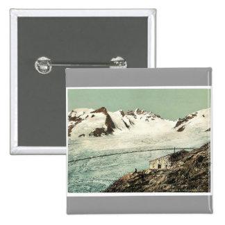 Choza de Concordia, Valais, montañas de, vintag de Pins