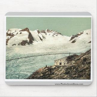 Choza de Concordia, Valais, montañas de, vintag de Tapete De Raton