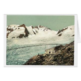 Choza de Concordia, Valais, montañas de, vintag de Tarjetas