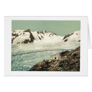 Choza de Concordia, Valais, montañas de, vintag de Tarjetón