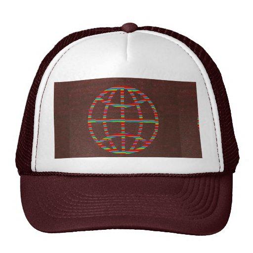 Choza de la MODA: Regalo marrón del gorra del glob