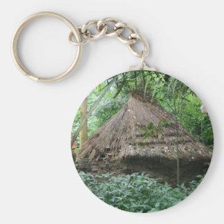 choza de la naturaleza llavero redondo tipo pin