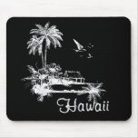 Choza de la playa de Hawaii Alfombrillas De Ratón